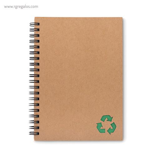 Libreta ecológica con anillas verde - RG regalos publicitarios