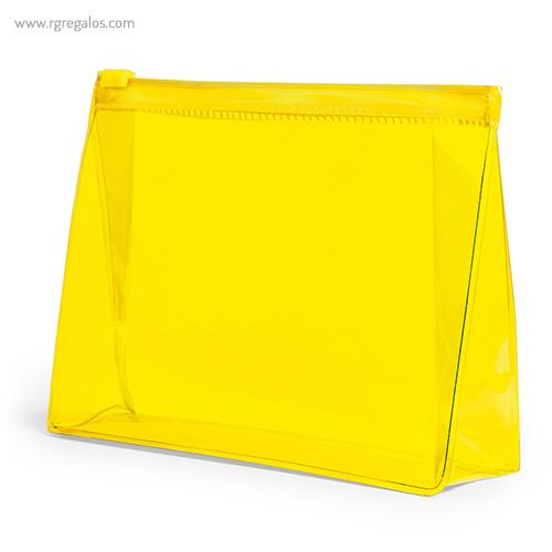 Neceser publicitario barato en PVC amarillo - RG regalos publicitarios