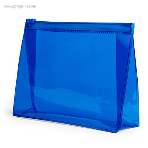 Neceser publicitario barato en PVC azul - RG regalos publicitarios