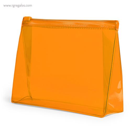 Neceser publicitario barato en PVC naranja - RG regalos publicitarios