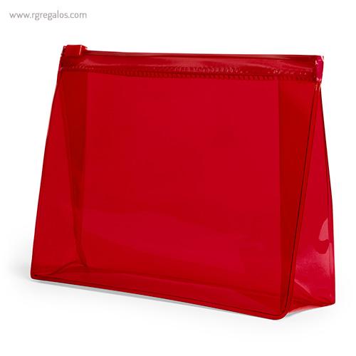 Neceser publicitario barato en PVC rojo - RG regalos publicitarios