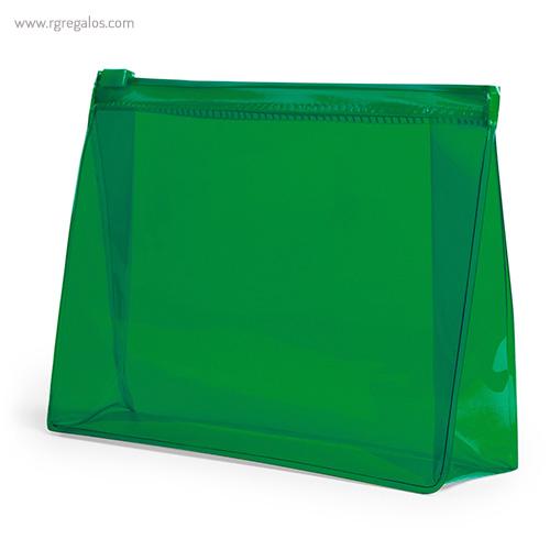 Neceser publicitario barato en PVC verde - RG regalos publicitarios
