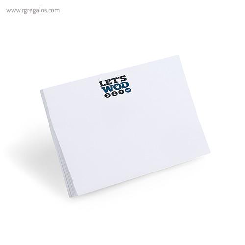 Taco de notas adhesivo rectangular - RG regalos publicitarios