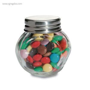 Bote de cristal con chocolate detalle - RG regalos publicitarios