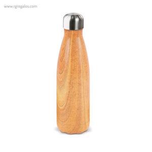Botella de acero inoxidable madera 500 ml - RG regalos publicitarios
