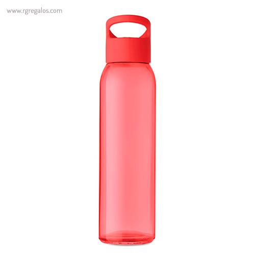 Botella de cristal y tapa de PP roja 470 ml - RG regalos