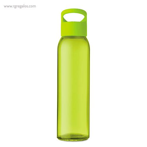 Botella de cristal y tapa de PP verde 470 ml - RG regalos