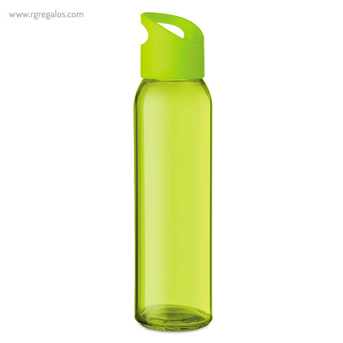 Botella de cristal y tapa de PP verde - RG regalos