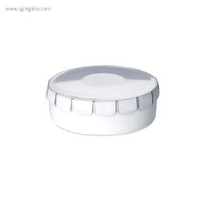 Caja redonda de caramelos menta blanca - RG regalos publicitarios