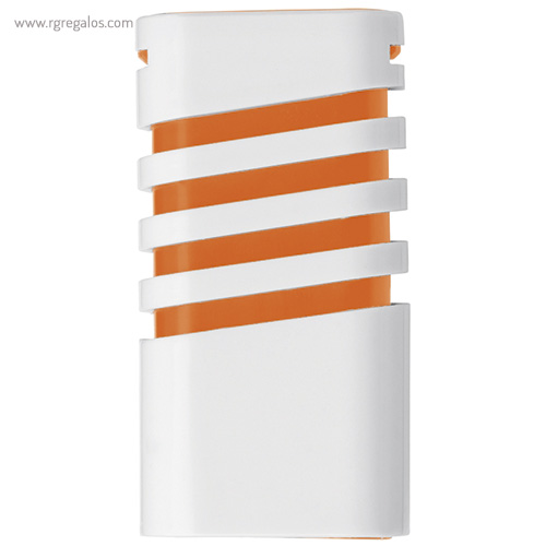 Dispensador de mentolados naranja frontal - RG regalos publicitario