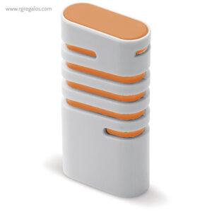 Dispensador de mentolados naranja lateral - RG regalos publicitarios