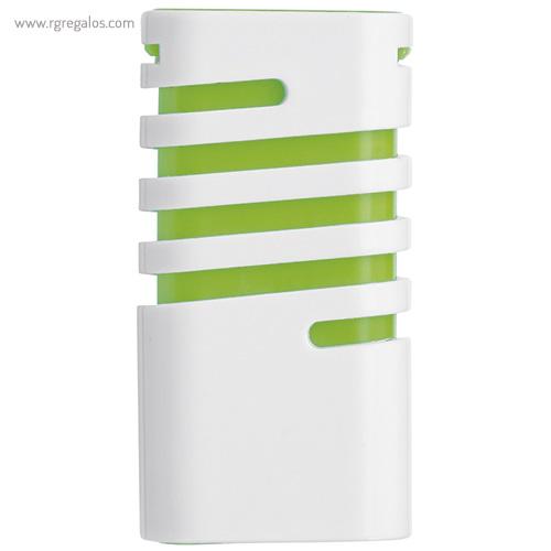 Dispensador de mentolados verde frontal - RG regalos publicitario