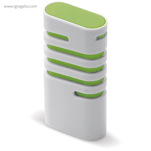 Dispensador de mentolados verde lateral - RG regalos publicitarios