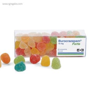 Estuche caramelos alargado PVC - RG regalos publicitarios