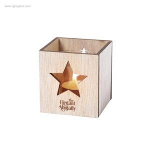 Portavela-madera-Navidad-estrella-logo-RG-regalos-publicitarios