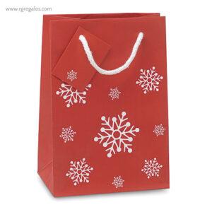 Bolsa estampado navidad copos nieve - RG regalos publicitarios