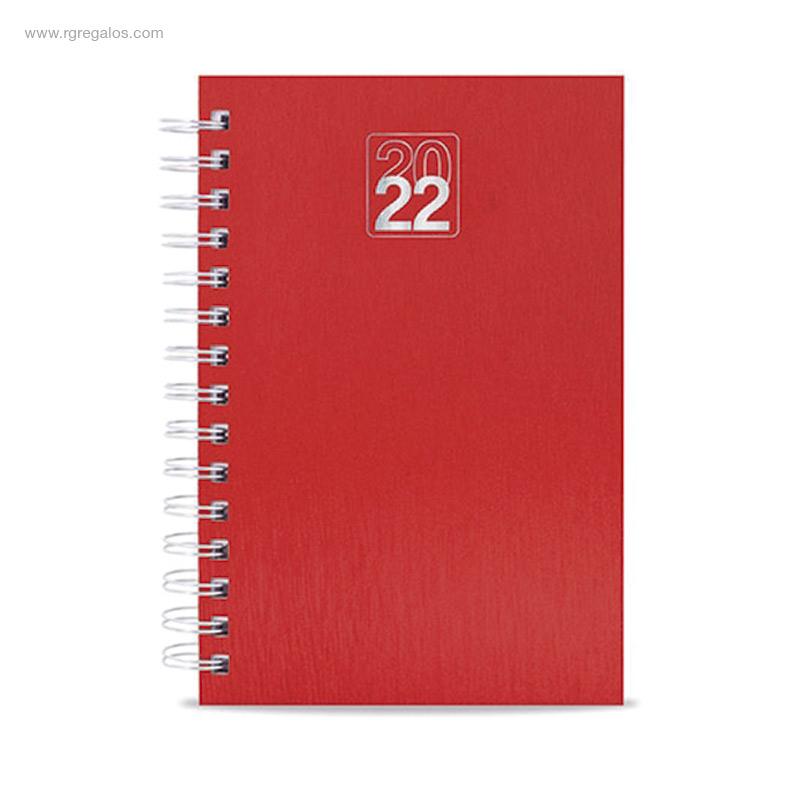 Agenda-2022-efecto-metalizado-rojo-RG-regalos-publicitarios