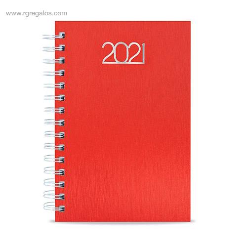 Agenda metalizada anillas roja - RG regalos