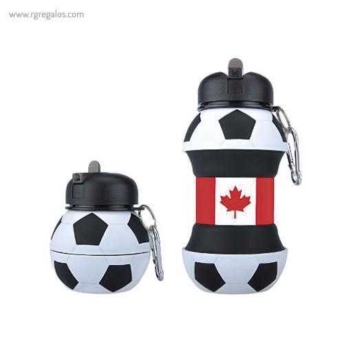 Botella plegable pelota de fútbol canada- RG regalos promocionales