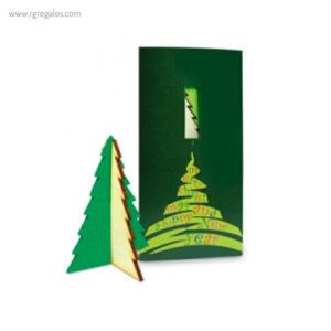 Tarjeta Navidad con figura arbol - RG regalos publicitarios