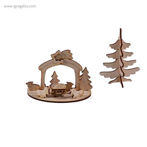 Tarjeta Navidad con puzzle 3D - RG regalos publicitarios
