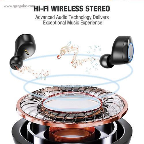 Auriculares inalámbricos impermeables HI-FI - RG regalos publicitarios