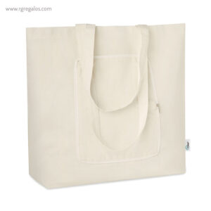 Bolsa plegable algodón reciclado con cremallera - RG regalos publicitarios