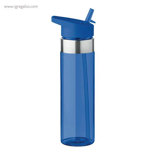 Botella de tritán con boquilla 650 ml azul - RG regalos promocionales