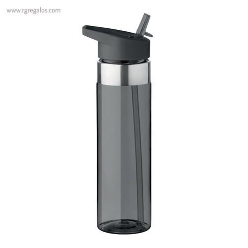Botella de tritán con boquilla 650 ml negre - RG regalos promocionales