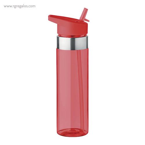 Botella de tritán con boquilla 650 ml rojo - RG regalos promocionales