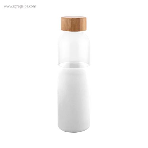 Botella de vidrio con funda de silicona blanco - RG regalos publicitarios