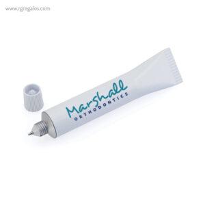 Bolígrafo diseño tubo con logo - RG regalos promocionales