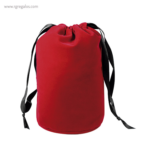 Bolsa Neceser saco en terciopelo negro detalle - RG regalos promocionales