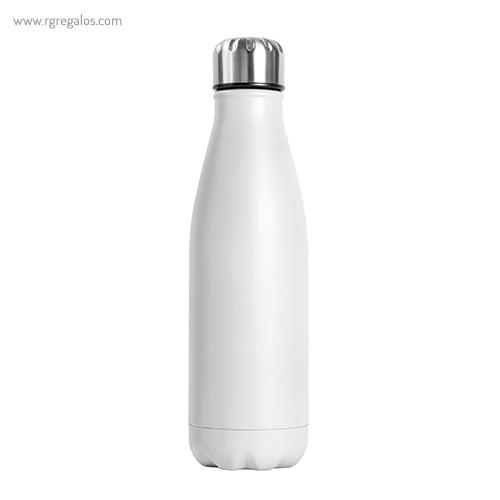 Botella de acero inox mate de 750 ml blanca - RG regalos publicitarios