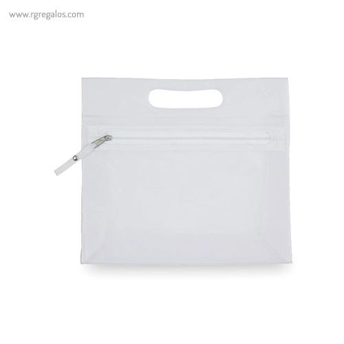 Neceser translúcido con asa blanco - RG regalos publicitarios