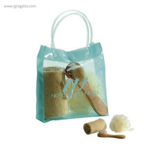 Set baño 3 piezas con bolsa - RG regalos personalizados
