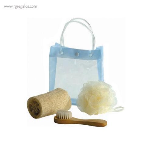 Set baño 3 piezas con bolsa - RG regalos publicitarios