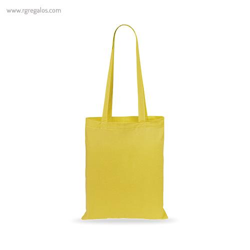 Bolsa 100% algodón barata amarilla - RG regalos publicitarios