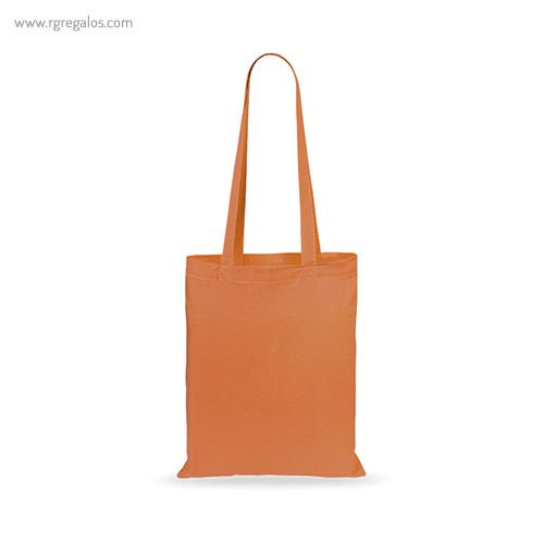 Bolsa 100% algodón barata naranja - RG regalos publicitarios