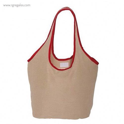 Bolsa de yute camiseta roja - RG regalos publicitarios