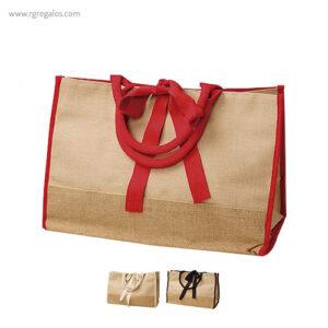 Bolsa de yute con cinta - RG regalos publicitarios