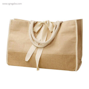 Bolsa de yute con cinta blanca - RG regalos publicitarios
