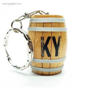 Llavero barril de madera - RG regalos promocionales