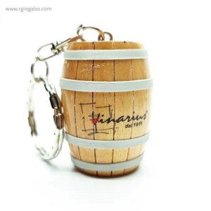 Llavero barril de madera - RG regalos publicitarios