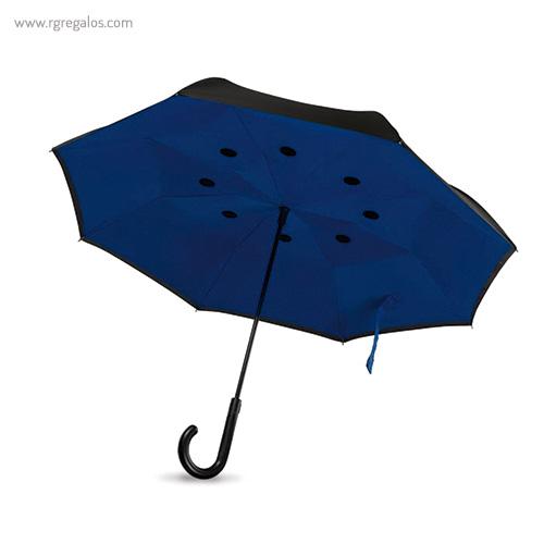 Paraguas reversible doble capa azul - RG regalos publicitarios