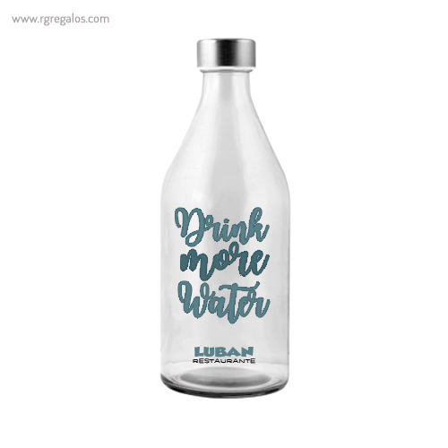 Botella de cristal para agua de 1 litro - RG regalos publicitarios