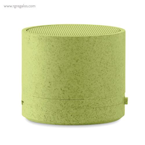 Altavoz bluetooth de paja de trigo verde - RG regalos para empresa