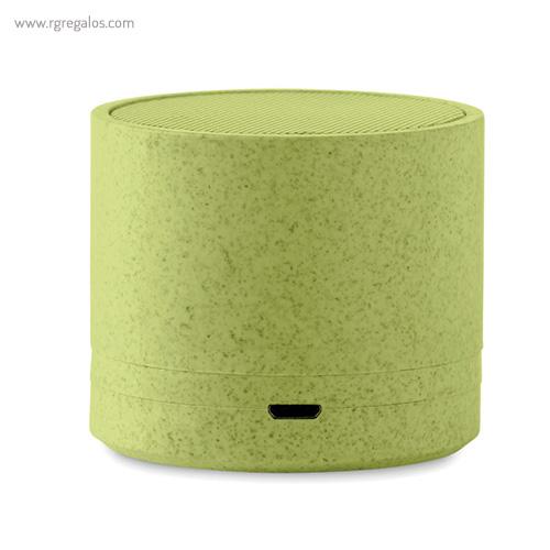 Altavoz bluetooth de paja de trigo verde - RG regalos personalizados