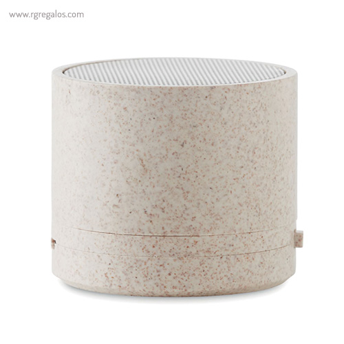 Altavoz bluetooth de paja de trigo verde beig - RG regalos publicitarios