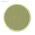 Altavoz bluetooth de paja de trigo verde detalle - RG regalos publicitarios